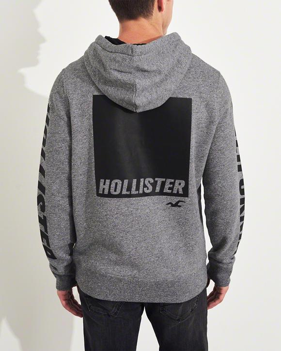Pánská mikina Hollister Classic sivá  9145294800f