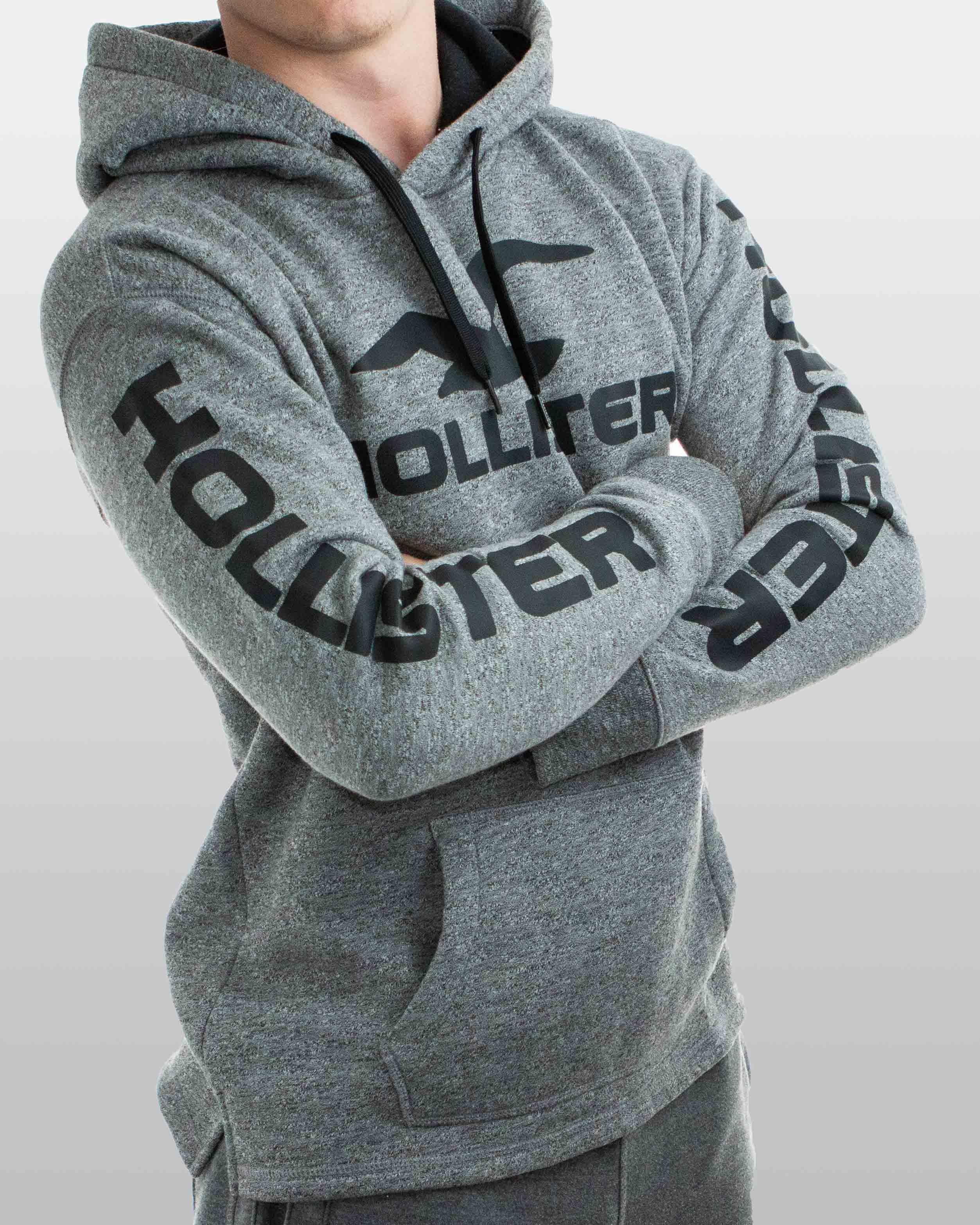 Pánská mikina Hollister Logo sivá  02de639981c