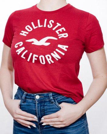 92e774bbb64e Dámské tričko Hollister Calif červené